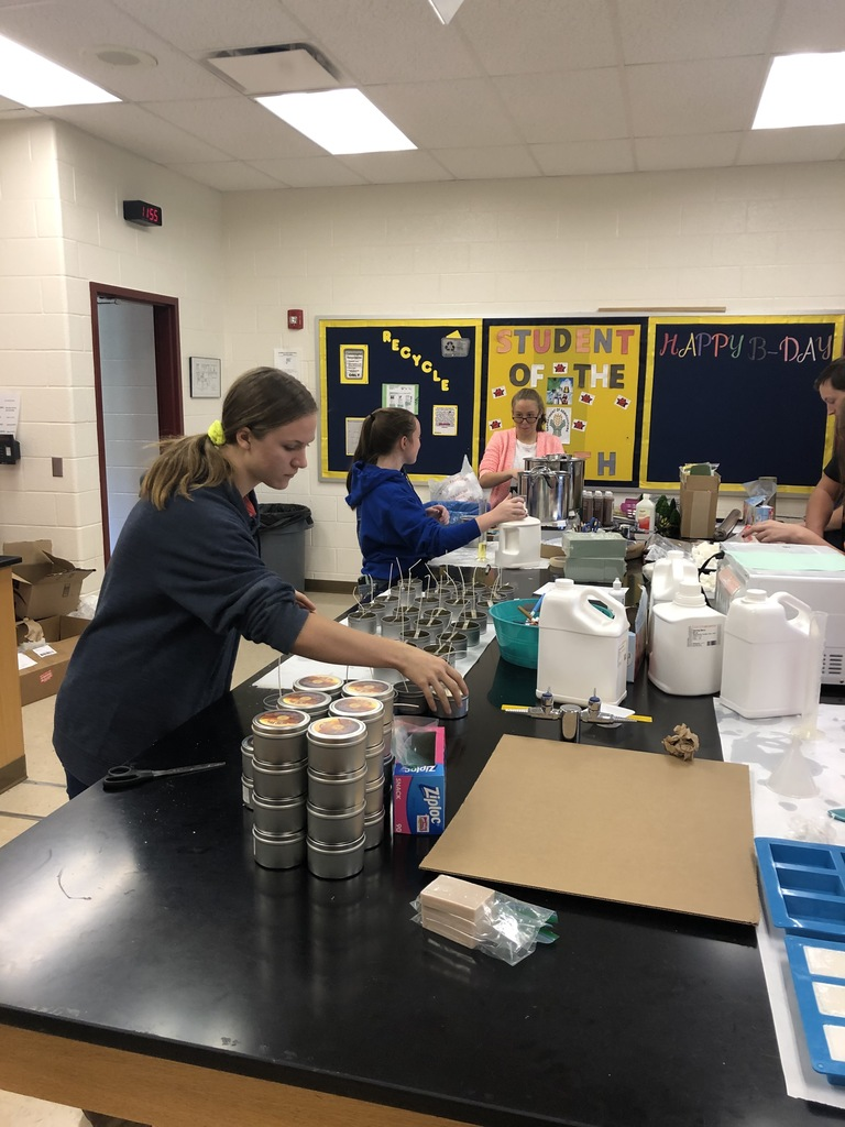 FFA members are starting to make soy-candles and goat milk soaps. Place your order today!